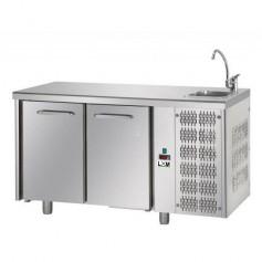 Banco Refrigerato 2 porte con lavello a destra