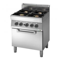 Cucina a gas 4 fuochi su forno a gas,bacinelle smaltate linea PROMO