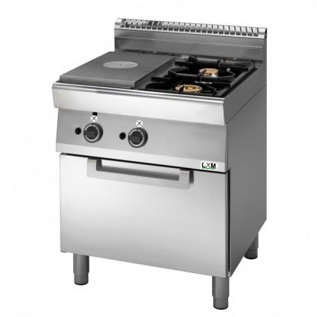 Cucina tuttapiastra a gas,2 fuochi su forno a gas Linea PROMO