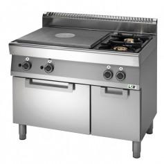 Cucina tuttapiastra 2 zone a gas,2 fuochi su forno a gas Linea PROMO