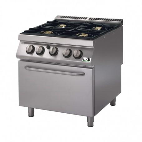 Cucina a gas 4 fuochi su forno a gas bacinelle smaltate
