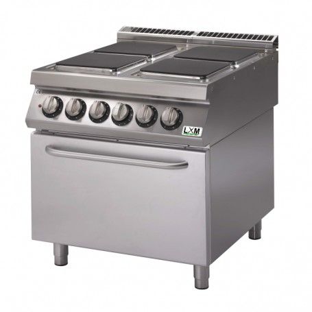 Cucina elettrica 4 piastre quadre su forno elettrico