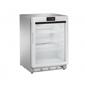 Espositore Refrigerato Statico Digitale - INOX | +2 +8 C° | 140 Litri