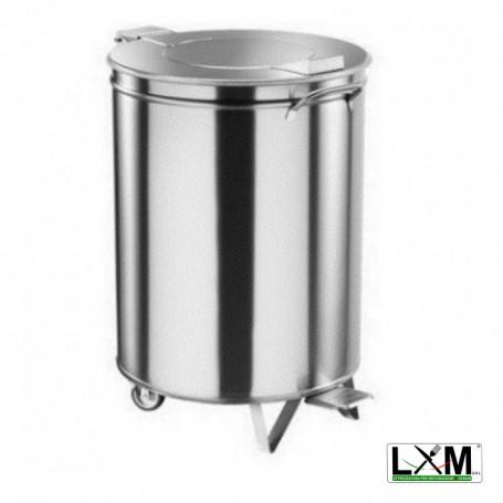 Pattumiera da 50 litri in acciaio inox