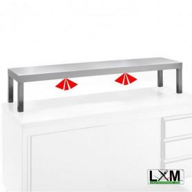 Mensola semplice per tavolo con corpo riscaldante