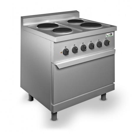 Cucina 4 Fuochi - Elettrica - Linea Basic - Con Forno