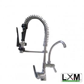 Gruppo Doccia MINI con rubinetto a metà e miscelatore con leva corta
