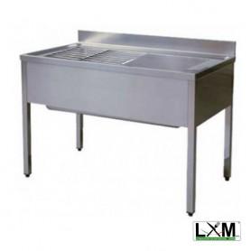 Lavapentole su gambe con griglia scorrevole - 1600x700x900h mm