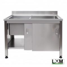 Lavapentole Armadiato con porte scorrevoli e griglia scorrevole - 1000x700x900h mm