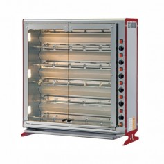 Girrarosto Verticale - Gas / Elettrico - 6 Aste da 760 mm