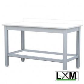 Tavolo da Lavoro - Piano in Polietilene - con Alzatina - 100x50xh85 cm