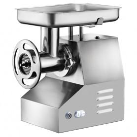 Tritacarne - in Acciaio Inox - con inversione marcia - Bocca Diametro 76mm - Produzione 300 Kg/h
