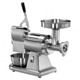 Tritacarne - Grattugia - Gruppo Estraibile - in Alluminio - Bocca Diametro 52mm - Produzione 160 e 40 kg/h
