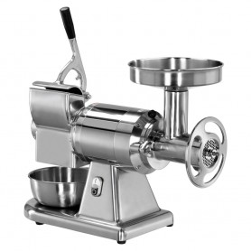 Tritacarne - Grattugia - Gruppo Estraibile - in Alluminio - Bocca Diametro 52mm - Produzione 300 e 40 kg/h