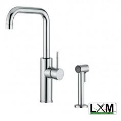 Miscelatore lavello con doccia estraibile laterale - H35 cm