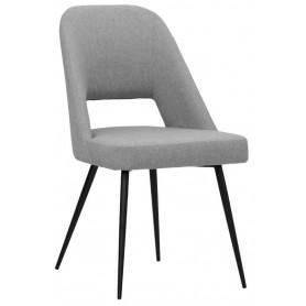 Sedia struttura in metallo verniciato, rivestimento in tessuto o ecopelle