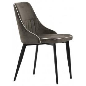 Sedia struttura in metallo verniciato rivestimento in tessuto