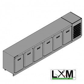 Modulo Refrigerato - Con Motore - Larghezza 3500 mm - Temperatura Normale - Statica Con Evaporatore