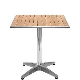 Tavolo base in alluminio ripiano in legno