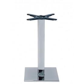 Base per interni struttura in acciaio cromato con piedini regolabili 40x40x72 cm