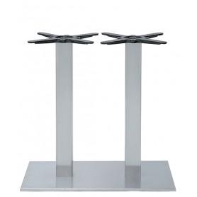 Base per interni struttura in acciaio inox satinato con piedini regolabili 40x75x73 cm