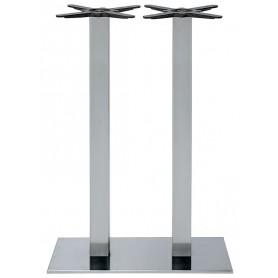 Base per interni struttura in acciaio inox cromato con piedini regolabili 40x70x108 cm
