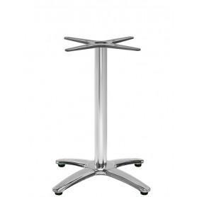 Base per interni struttura in alluminio acciaio e ghisa con piedini regolabili H 72 cm