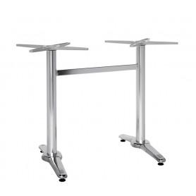 Base per interni doppio piede struttura in alluminio acciaio e ghisa con piedini regolabili H 71 cm