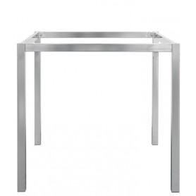Base per interni struttura in metallo cromato 80x80x72,5 cm