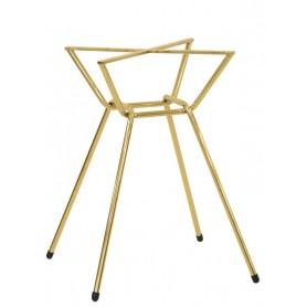 Base per interni struttura in metallo dorato 52x52x72 cm