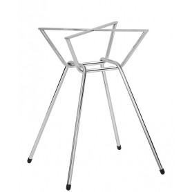 Base per interni struttura in acciaio inox cromato 52x52x72 cm