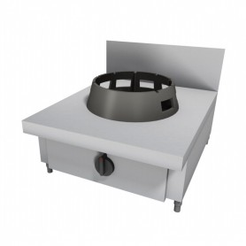Cucina Wok - Da Banco Rialzata - 1 Fuoco - 600x500x500h mm