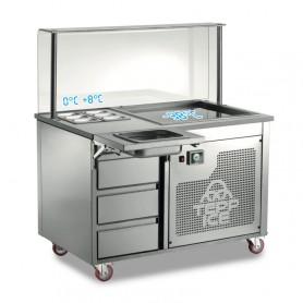 Tepp Ice - Pian in Granito - 3 Cassetti - 6 GN 1/9