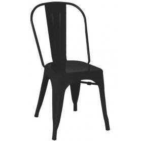Sedia - Struttura in metallo verniciato - Nera