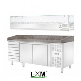 Ripiano in Granito per Banco Pizza - 1472x800x180h mm