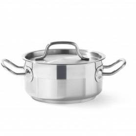 Pentola per stufato - Bassa - Con Coperchio - Ø160x75H mm