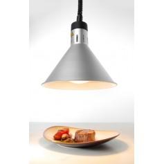 Lampada Riscaldante Conica Regolabile - Argento - 250 Watt