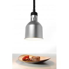 Lampada Riscaldante Cilindrica Regolabile - Argento - 250 Watt