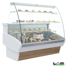 Vetrina Refrigerata per Pasticceria - Modello PLM -1180x990x1400h mm - Pattern Legno