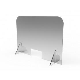 Protezione in Plexiglass per Attività Commerciali e Bar - Spessore 5 mm - Base 700 mm Altezza 900 mm