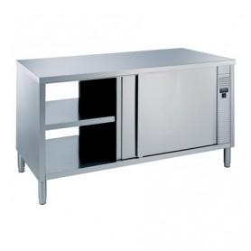 Tavoli in acciaio Inox armadiati - Riscaldato Passante - 1400x800x850 mm