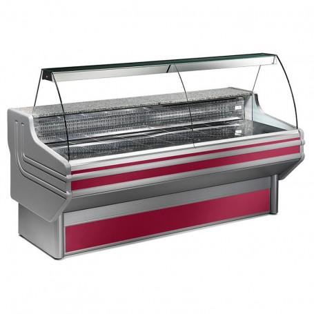 Espositore Refrigerato - Per Carni - Vetri Curvi - Statico Con Cella - Modello Jinny JY - Lunghezza 1040 mm