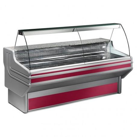 Espositore Refrigerato - Per Carni - Vetri Curvi - Statico Con Cella - Modello Jinny JY - Lunghezza 2500 mm