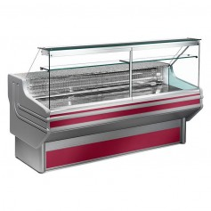 Espositore Refrigerato - Per Carni - Vetri Dritti - Statico Con Cella - Modello Jinny JL - Lunghezza 1040 mm