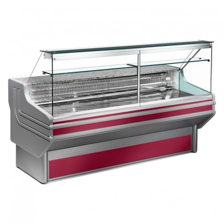 Espositore Refrigerato - Per Carni - Vetri Dritti - Statico Con Cella - Modello Jinny JL - Lunghezza 1500 mm