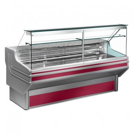 Espositore Refrigerato - Per Carni - Vetri Dritti - Ventilato con Cella - Modello Jinny JL - Lunghezza 2500 mm