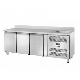 Tavolo Refrigerato - Con Vasca - 3 Porte - [-2 +8 C°]