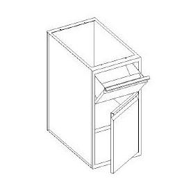 Base con cassetti 1/3 batticaffè - porta e con 1 ripiano - 400x700x850h mm
