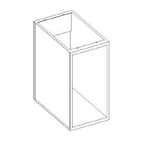 Base aperta scarico parete, per icemakers e dwash - 550x600x850h mm