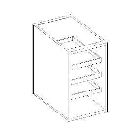Basi aperte portacesti - portabicchieri su guide - 600x700x850h mm